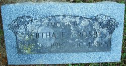 Bertha E <I>Stoutenburg</I> Crosby