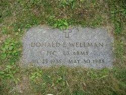 PFC Donald E. Wellman