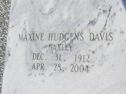 Maxine <I>Hudgens</I> Davis Baxley