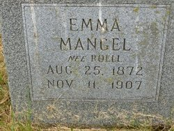 Emma Caroline <I>Roell</I> Mangel