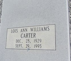 Lois Ann <I>Williams</I> Carter