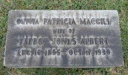 Olivia Patricia <I>Macgill</I> Albert