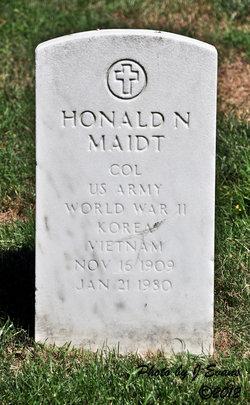 Col Honald N Maidt, Jr
