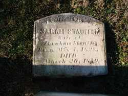 Sarah Ann <I>Moser</I> Stauffer