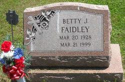 Betty J <I>Tressler</I> Faidley