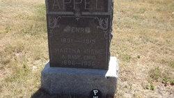 Martha Irene <I>Hinkel</I> Appel