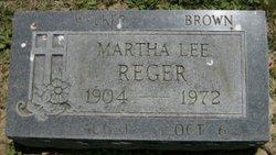 Martha Lee <I>Walker</I> Reger