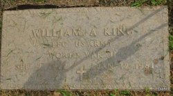 PFC William A. King
