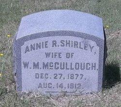 Annie R. <I>Shirley</I> McCullough