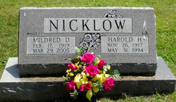 "Mildred D ""Millie"" <I>Dwire</I> Nicklow"