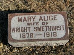 Mary Alice <I>Pierce</I> Smethurst