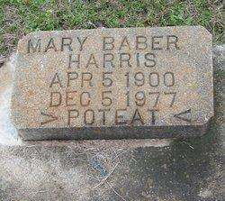 Mary <I>Baber</I> Harris