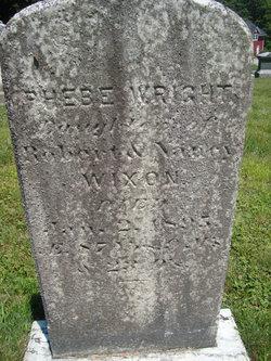 Phebe <I>Wixon</I> Wright