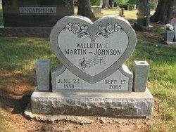 Walletta C Martin Johnson