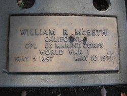 CPL William Robert McBeth