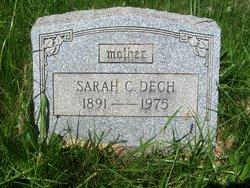 """Sarah C """"Sallie"""" <I>Kuebler</I> Dech"""
