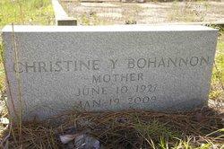 Christine <I>Yancey</I> Bohannon