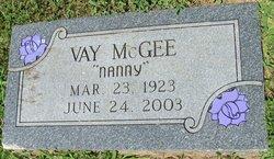 """Vay """"Nanny"""" McGee"""