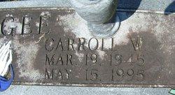 Carroll W McGee