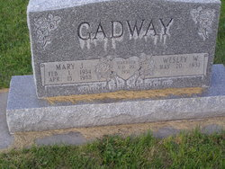 Mary J. <I>Sherman</I> Gadway