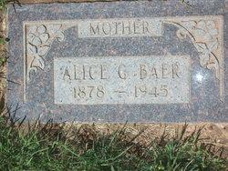 Alice <I>Garbett</I> Baer