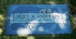 Alice M. <I>Stone</I> Anderson