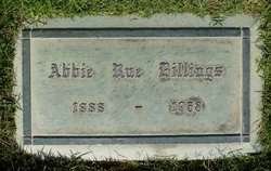 Abbie Rue <I>Webster</I> Billings