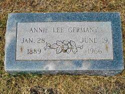 Annie Lee <I>Starr</I> Germany