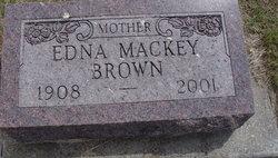 Edna <I>Mackey</I> Brown