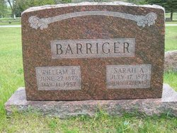 Sarah Ann <I>Andress</I> Barriger
