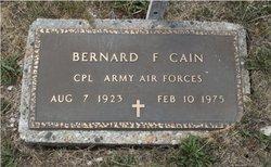 Bernard F Cain