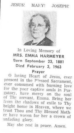 Emma L <I>Weishaar</I> Harmeyer