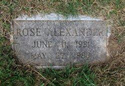 Rose <I>Armstrong</I> Alexander