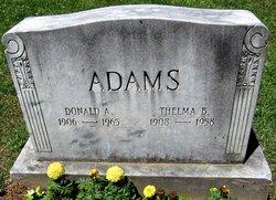 Donald A Adams
