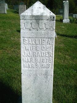 Sallie A Rader