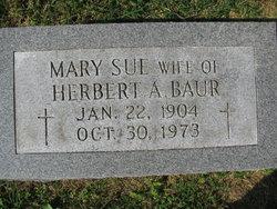"""Mary Sue """"Sue"""" <I>Jarboe</I> Baur"""