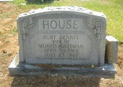 Ruby Mae <I>Dennis</I> House