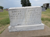 "Indiana Cornelia ""Annie"" <I>Walker</I> Allen"