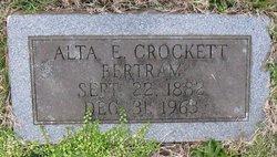 Alta Elizabeth <I>Crockett</I> Bertram