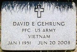 PFC David Ernest Gehrung