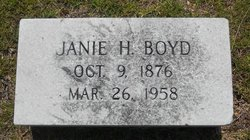 "Martha Jane ""Janie"" <I>Heard</I> Boyd"
