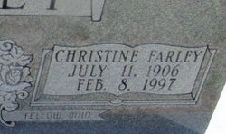 Christine <I>Farley</I> Bailey