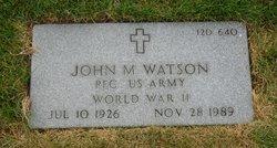 John M Watson