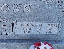 Virginia Alta Marie <I>Crites</I> Brown