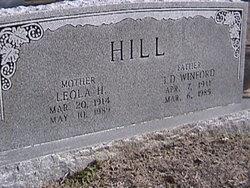 Leola Hazel <I>Rhudy</I> Hill