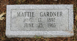 Mattie L <I>McPherson</I> Gardner