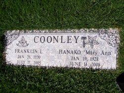 """Hanako """"Mary Ann"""" <I>Kondo</I> Coonley"""