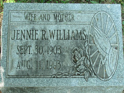 Jennie Ruth <I>Hefner</I> Williams