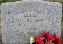 Lottie F <I>Snyder</I> Davis