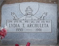 Lydia <I>Trujillo</I> Archuleta
